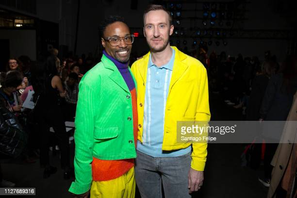 Men's Ambassador Billy Porter and Adam Smith at the Landlord show during New York Fashion Week Men's at Pier 59 Studios on February 05 2019 in New...
