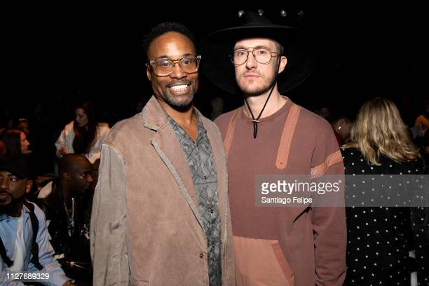 Men's Ambassador Billy Porter and Adam Smith at the Robert Geller show during New York Fashion Week Men's at Pier 59 Studios on February 05 2019 in...