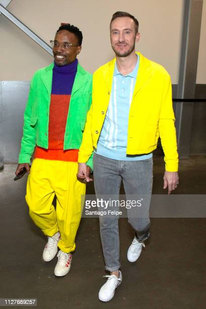 Men's Ambassador Billy Porter and Adam Smith seen during New York Fashion Week Men's at Pier 59 Studios on February 05 2019 in New York City