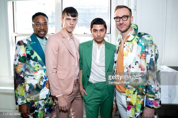 Men's Ambassador Billy Porter August James Gonet Mark Indelicato and Adam Smith attend 'Wan Hung' at Pier 59 Studios on February 05 2019 in New York...