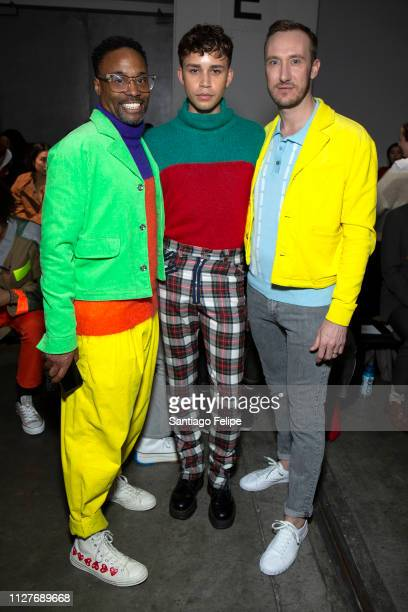 Men's Ambassador Billy Porter Jeremy McClain and Adam Smith attend the Landlord show during New York Fashion Week Men's at Pier 59 on February 05...