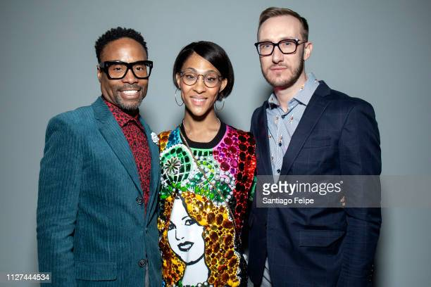 Men's Ambassador Billy Porter MJ Rodriguez and Adam Smith at Pier 59 Studios on February 04 2019 in New York City
