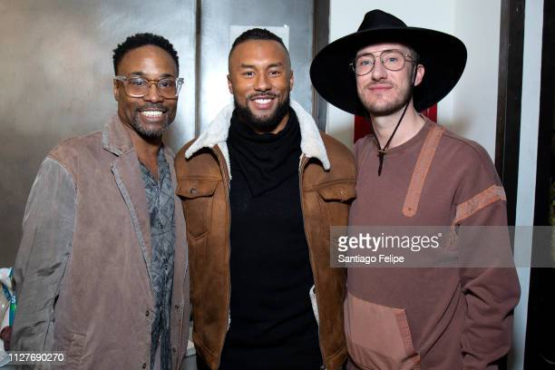 Men's Ambassador Billy Porter Nolan Carroll and Adam Smith attend the Robert Geller show during New York Fashion Week Men's at Pier 59 Studios on...