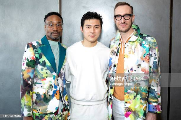 Men's Ambassador Billy Porter Wan Hung Cheung and Adam Smith at Pier 59 Studios on February 05 2019 in New York City