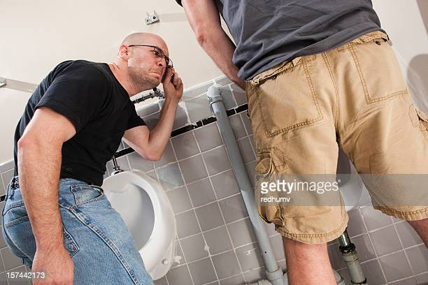 mens bathroom size up - chubby men stock photos and pictures