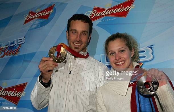 Men's Boarder Cross Olympic gold medalist Seth Wescott and 2006 Women's Boarder Cross Olympic silver medalist Lindsey Jacobellis, both of the United...