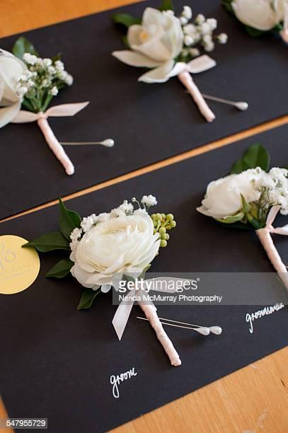 Men's buttonholes for wedding