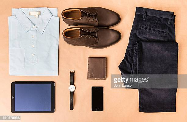 men's casual clothing - men fashion stock photos and pictures