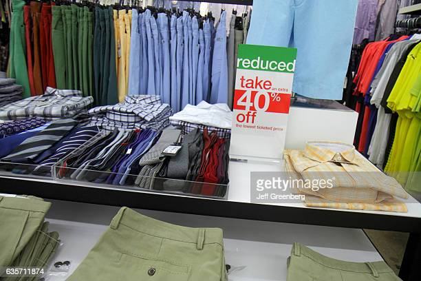 Men's clothes for sale in Bloomingdale's The Outlet Store
