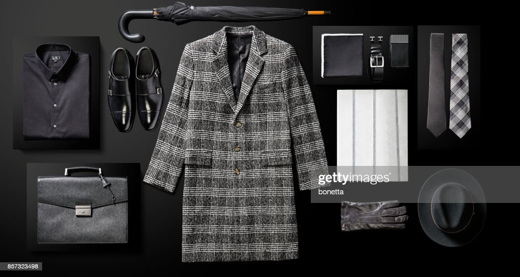 Men's clothing and personal accessories : Stock Photo