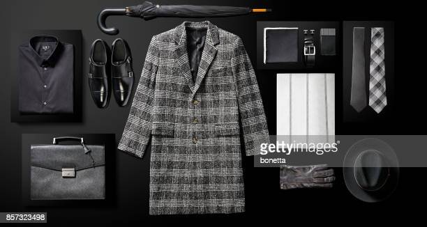 men's clothing and personal accessories - men fashion stock photos and pictures