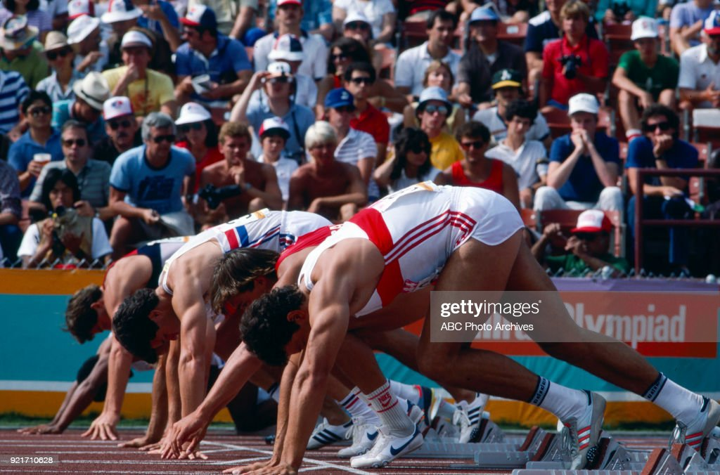 Men's Decathlon 100 Metres Competition At The 1984 Summer Olympics : Foto di attualità