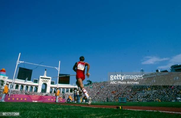 Men's decathlon pole vault competition Memorial Coliseum at the 1984 Summer Olympics August 8 1984