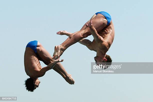 Men's Diving Synchro World Championships 3 m Andreas Wels and Tobias Schellenberg | Location Barcelona Spain
