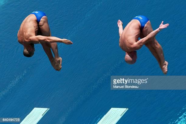Men's Diving Synchro World Championships 3 m Antonio Ally and Mark Shipman | Location Barcelona Spain