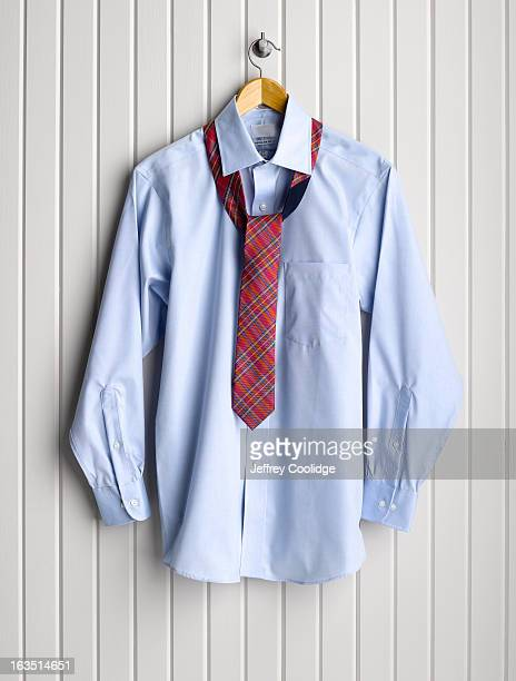 Men's Dress Shirt on Coat Hanger