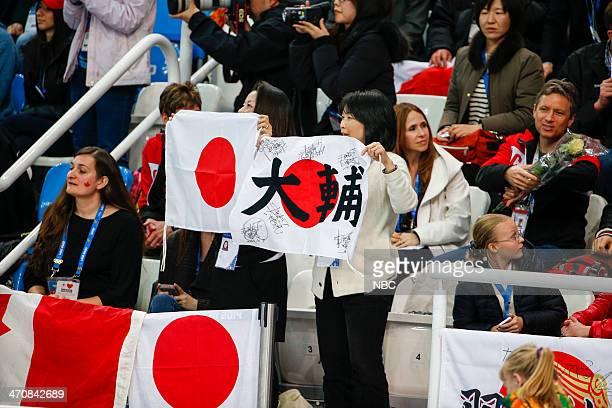 GAMES 'Men's Figure Skating Free Skate' Pictured Team Japan/Daisuke Takahashi fans during the Men's Figure Skating Free Skate on February 14 2014...