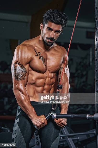 men`s fitness - bodybuilding stockfoto's en -beelden