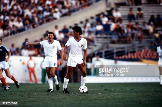 Men's Football / Soccer competition Italy vs USA Rose Bowl at the 1984 Summer Olympics July 31 1984