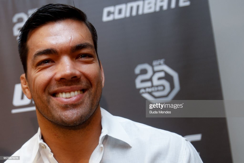 UFC men's middleweight contender Lyoto Machida of Brazil speaks to the media during Ultimate Media Day on May 10, 2018 in Rio de Janeiro, Brazil.