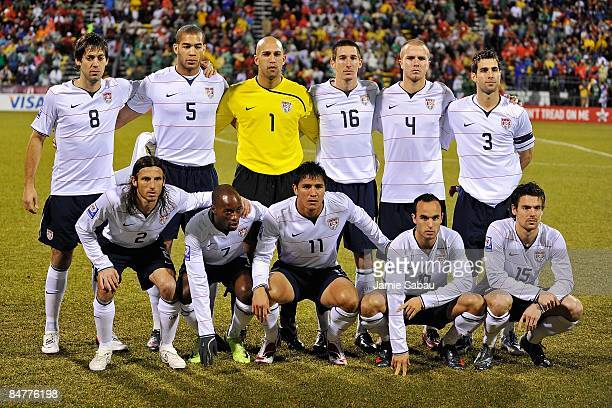 S Men's National Team poses for a photo before the game against Mexico during a FIFA 2010 World Cup qualifying match in the CONCACAF region on...