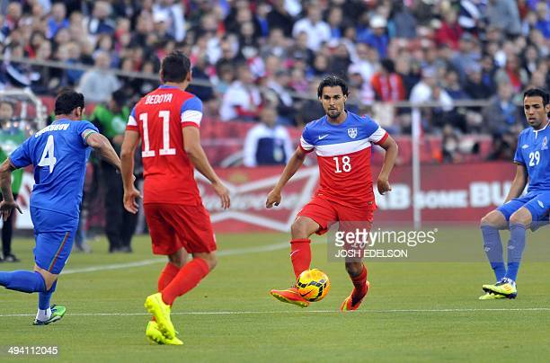 US men's national team striker Chris Wandolowski controls the ball during a World Cup preparation match against Azerbaijan at Candlestick Park in San...