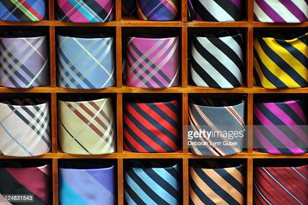 mens neckties - men fashion stock photos and pictures
