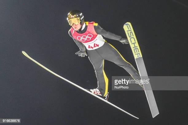 mens normal hill final at 2018 Pyeongchang winter olympics at Alpensia Ski Jumping Centre Pyeongchang South Korea on February 10 2018 Ulrik...