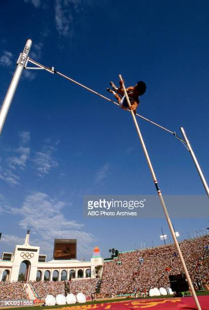 Men's pole vault competition Memorial Coliseum at the 1984 Summer Olympics August 8 1984