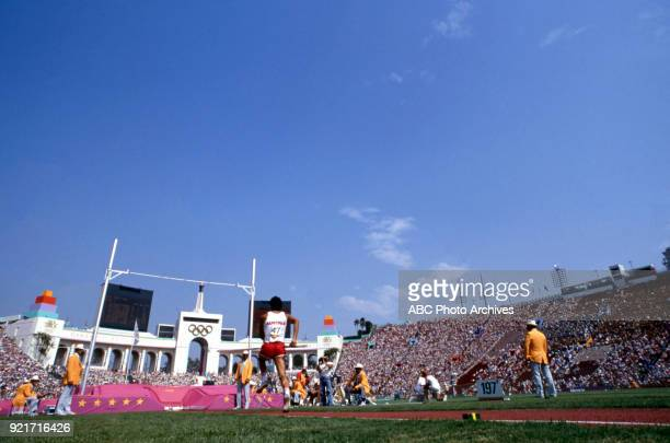 Men's pole vault decathlon competition Memorial Coliseum at the 1984 Summer Olympics August 8 1984