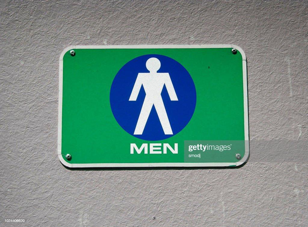 men's restroom : Stock Photo