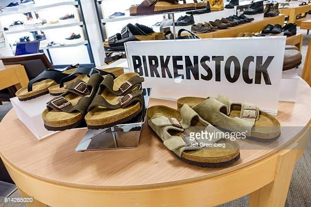 Men's sandals inside Macy's department store