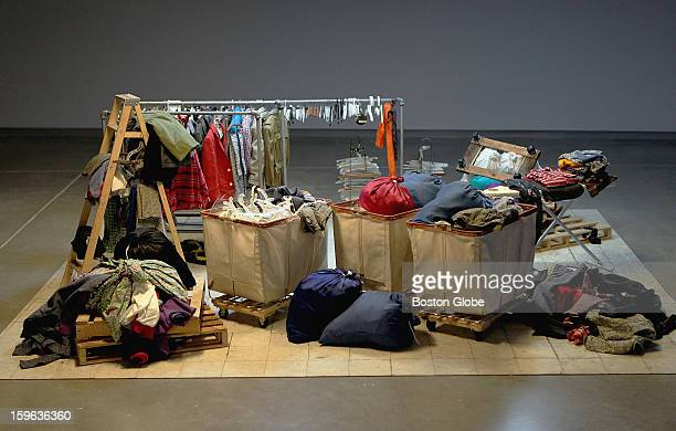 """""""Men's Suits"""" by Charles Le Dray at Boston's Institute Of Contemporary Art, Tuesday, July 13, 2010."""
