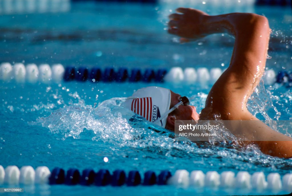 Men's Swimming 1500 Metre Freestyle Competition At The 1984 Summer Olympics : News Photo