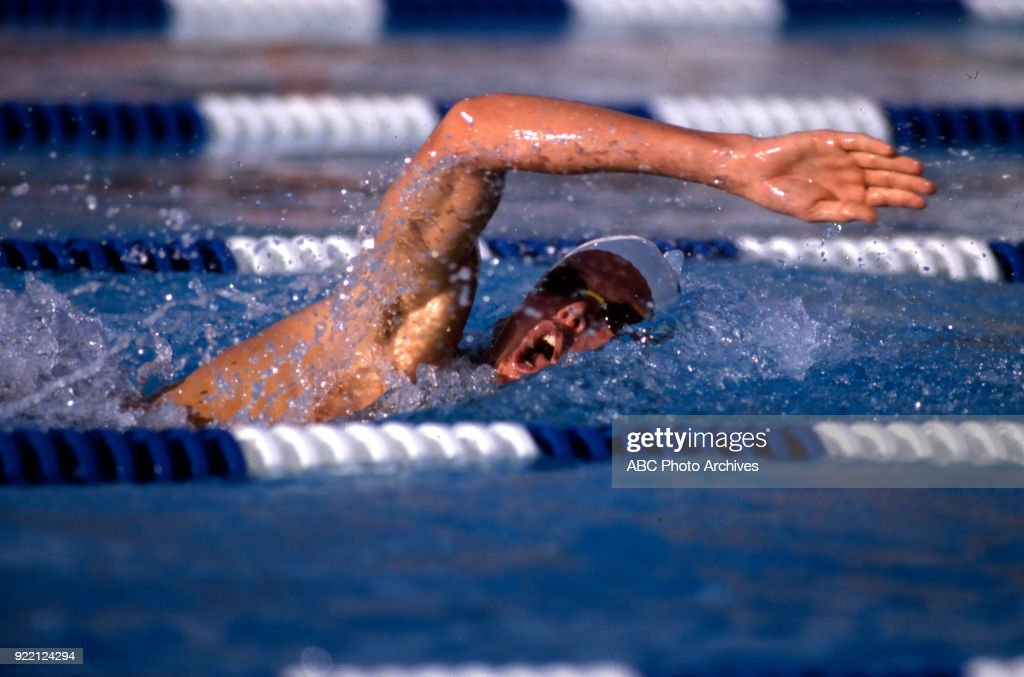 Men's Swimming Swimming Competition At The 1984 Summer Olympics : News Photo