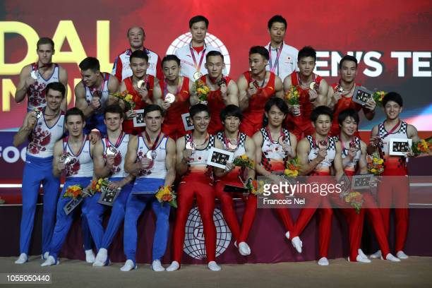 Men's Team World Champions Medallists and Tokyo 2020 Olympic qualifiers team Russia Silver Medalists Team China Gold Medalists and Bronze Medalists...
