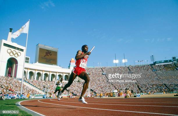 Men's Track 4 × 400 metres relay competition Memorial Coliseum at the 1984 Summer Olympics August 11 1984