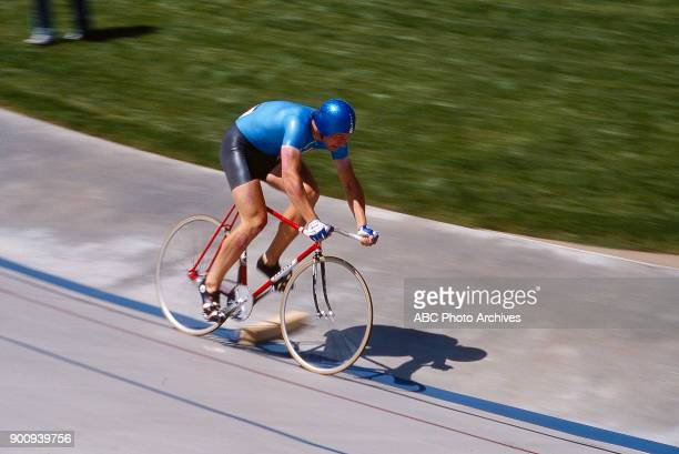 Men's Track cycling 1 km time trial competition Olympic Velodrome at the 1984 Summer Olympics July 30 1984