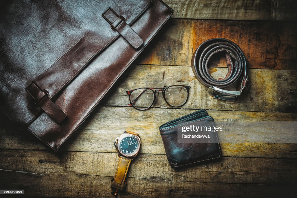 8ba91833 Men's Travel accessories plane travel Clothing accessories Apparel along  for the trip : Stock Photo