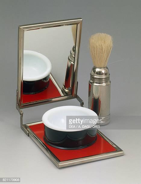 Men's travel shaving set with brush bowl and mirror 19501959 Italy 20th century Italy