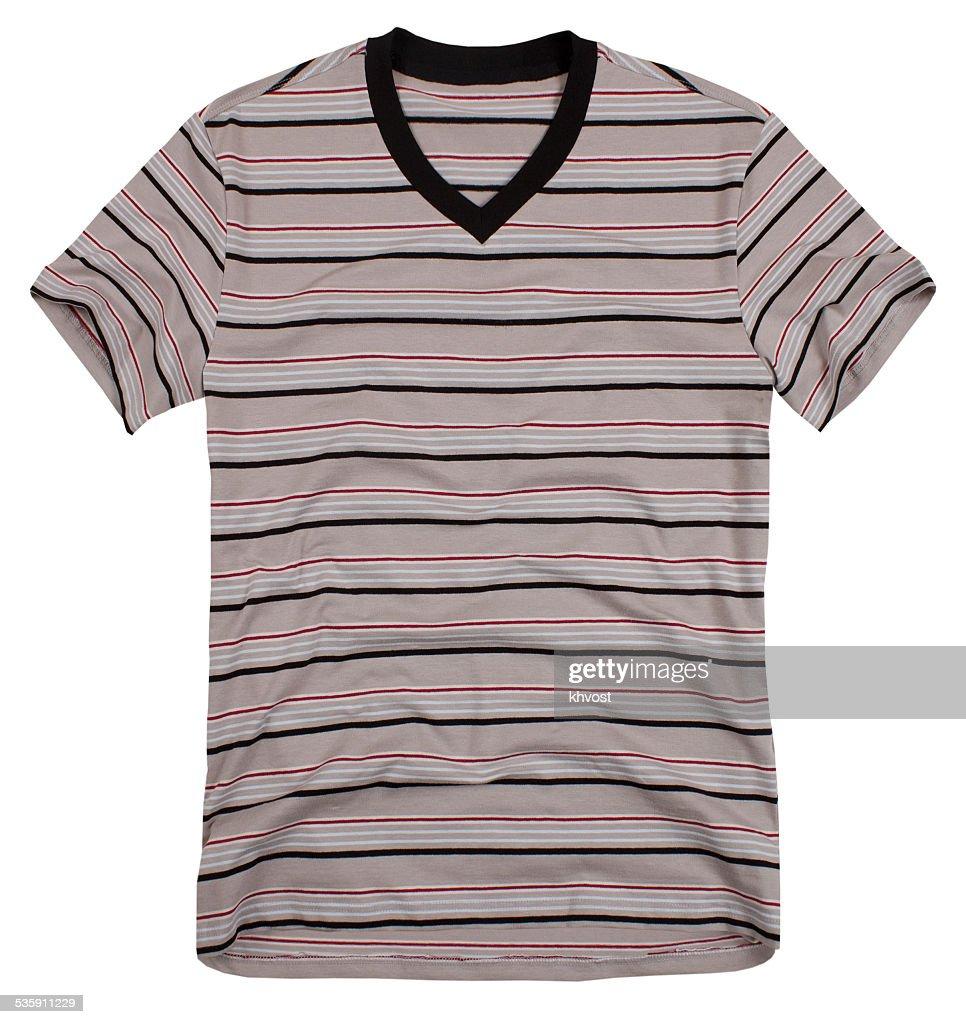 Hombre de camiseta aislado sobre fondo blanco : Foto de stock