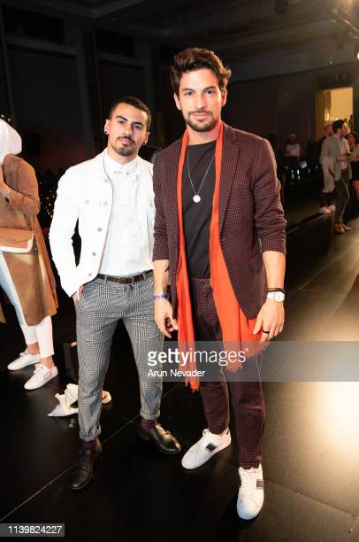 Menswear and lifestyle influencer and singer Raja Otaqui attends Jordan Fashion Week 019 on March 30 2019 at the Kempinski Amman in Amman Jordan