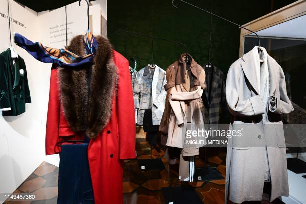 Menswear by various fashion designers is displayed at 19892019 Thirty years of menswear as seen by Pitti Uomo an exhibition showcasing 30 years of...