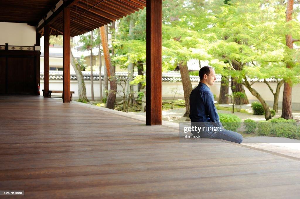 Seelische Ausgeglichenheit und meditation : Stock-Foto