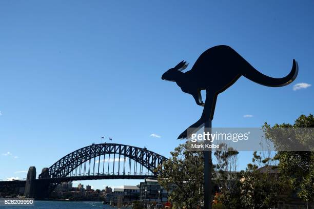 'Mental Convolution' an artwork by Elyssa SykesSmith is seen at the Sculpture at Barangaroo Media Launch at Barangaroo Reserve on August 4 2017 in...