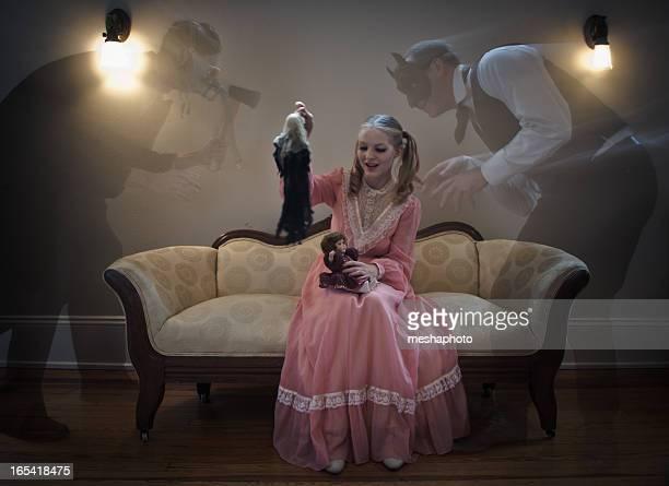 Enfermedad Mental Haunted Young Girl por mal fantasma