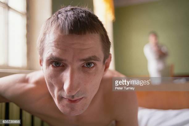 Mental Patient at a Psychiatric Hospital
