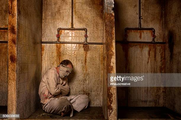 mental patient in the shower - torture stock pictures, royalty-free photos & images