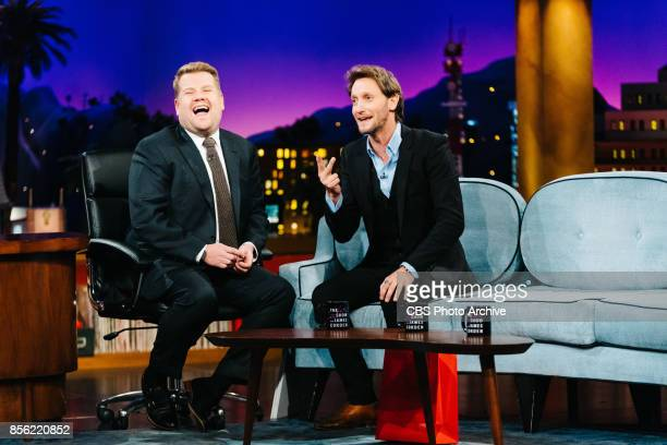 Mentalist Lior Suchard performs during 'The Late Late Show with James Corden' Monday September 25 2017 On The CBS Television Network