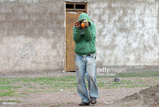 Mentally ill man walks in the village of Bouya Omar some 86 kilometres East of Marrakesh on March 20, 2014. The shrine of Bouya Omar has long been...